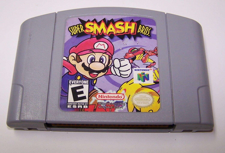 Super Smash Bros Game Cartridge ~ N64 Nintendo 64