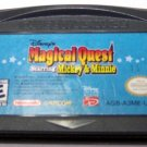 Disneys Magical Quest Starring Mickey & Minnie Nintendo Game boy Advance cartridge