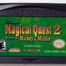 Magical Quest 2 Mickey & Minnie Nintendo Game boy Advance GBA