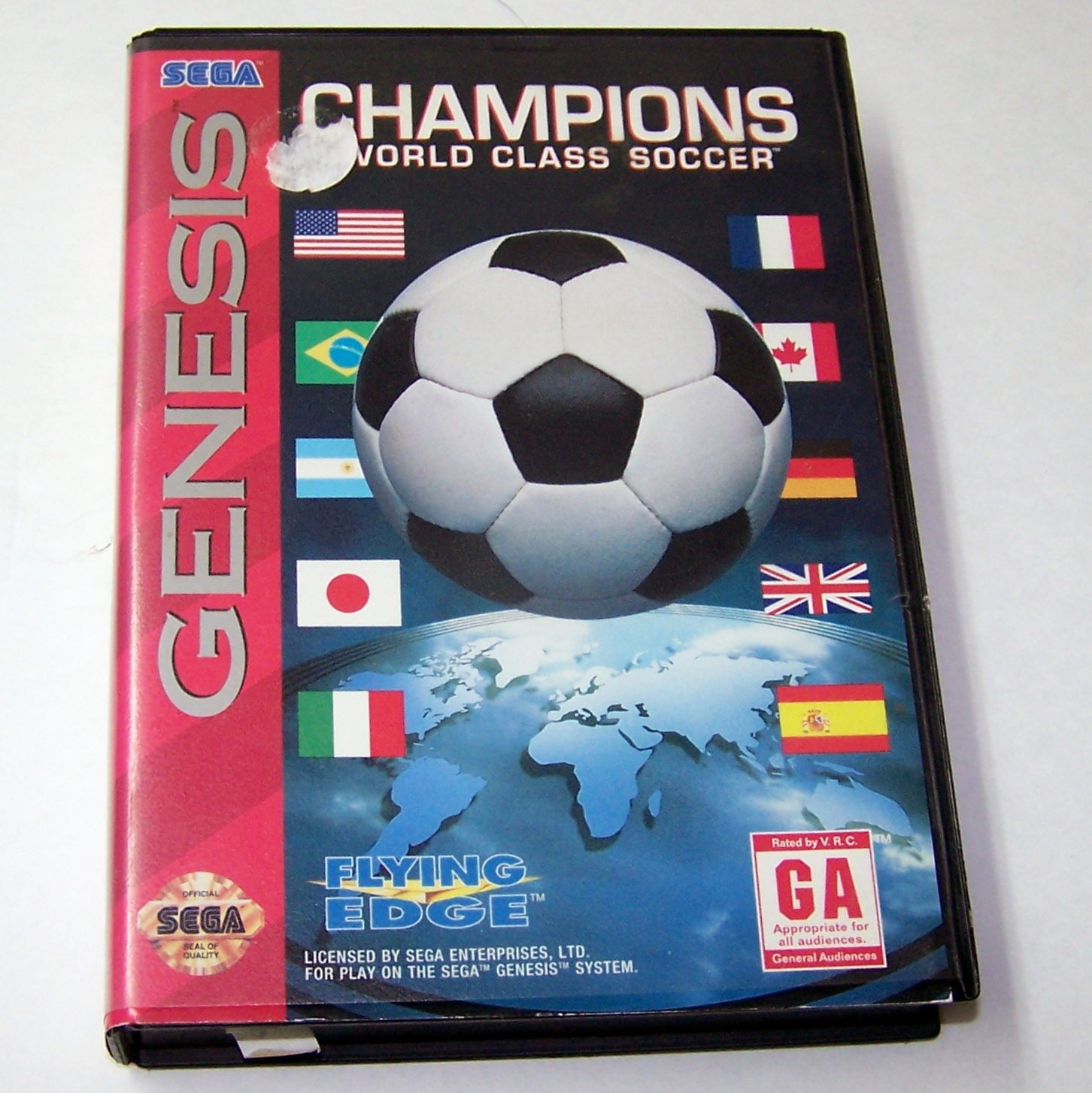 CHAMPIONS WORLD CLASS SOCCER Genesis Game Complete