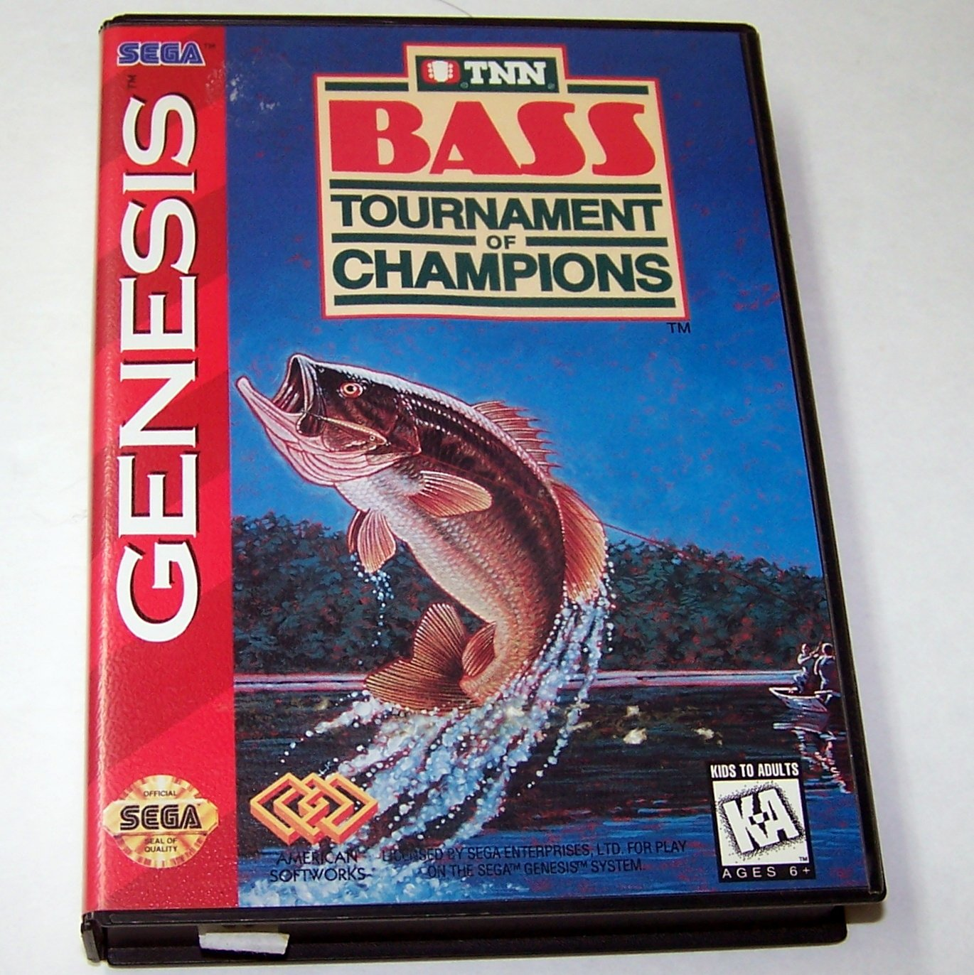 BASS TOURNAMENT OF CHAMPIONS Sega Genesis Game