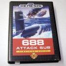 688 ATTACK SUB Sega Genesis Game Complete