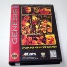 WWF Raw Sega Genesis Game