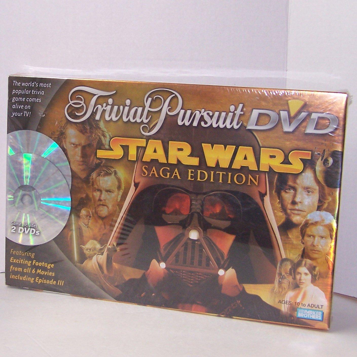 TRIVIAL PURSUIT DVD STAR WARS SAGA EDITION BOARD GAME
