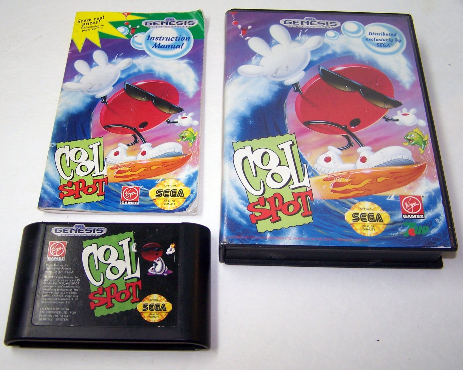Sega Genesis Game 7-UP'S COOL SPOT COMPLETE