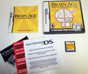 Brain Age: Train Your Brain in Minutes a Day! Nintendo DS cartridge