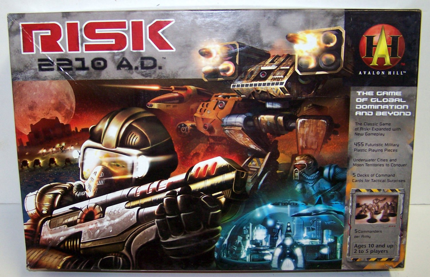 Risk 2210 AD by Avalon Hill - Resealed