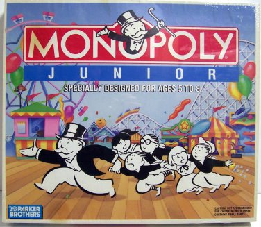 MONOPOLY JUNIOR Board GAME by PARKER BROTHERS