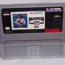 Madden 94 Super Nintendo Game