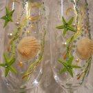 Champagne flutes, wedding toasting glasses