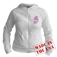 Dragon Side view Made in the USA Junior's 2-sided Hoodie