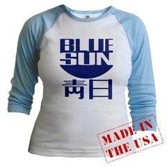 Blue Sun Jr Raglan baby blue sleeves & collar