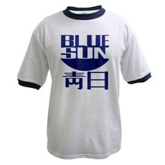 Blue Sun Ringer T-shirt Black or Blue Trim