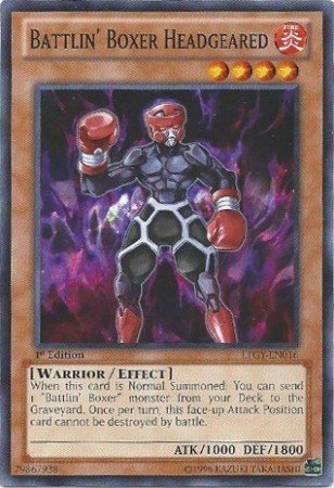Yugioh Card Battlin' Boxer Headgeared - LTGY-EN016 - Common 1st Edition
