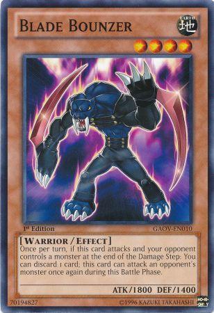 Yugioh Card Blade Bounzer - GAOV-EN010 - Common 1st Edition