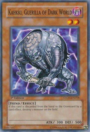 Yugioh Card Kahkki, Guerilla of Dark World - STON-EN018 - Common 1st Edition
