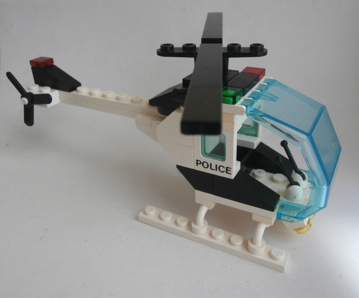 Lego System Town 6642-1 Police Helicopter 1988