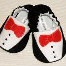 Baby Booties - Tuxedo - (3-6 mo)
