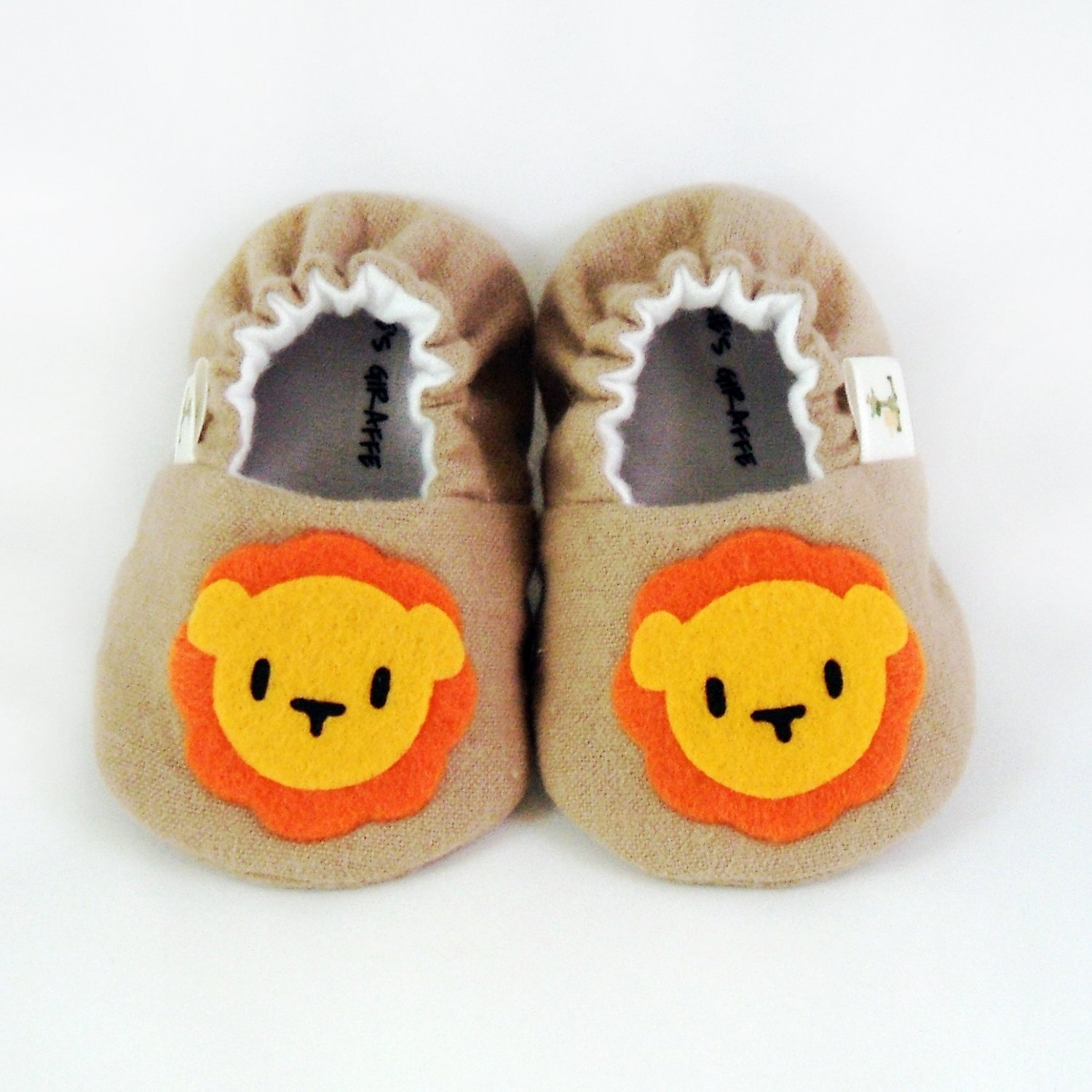 Baby Booties - Lion - (0-3 mo)