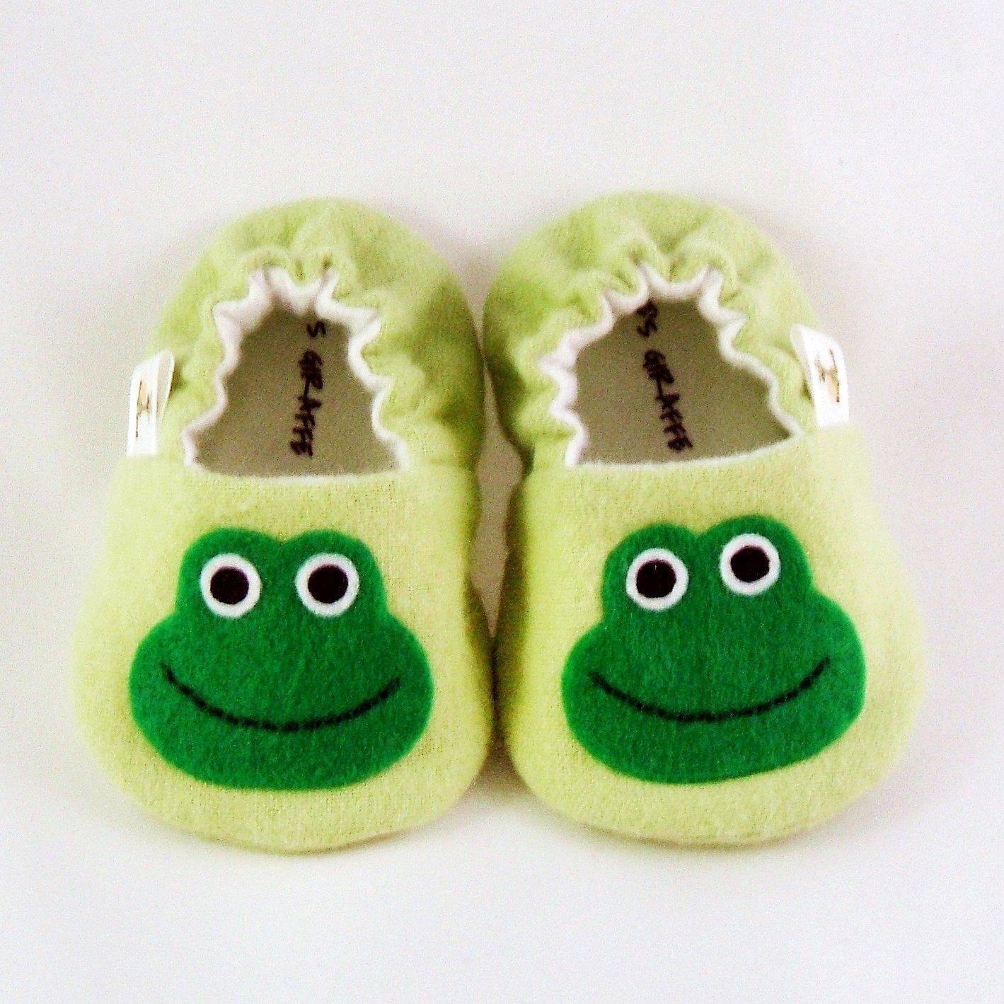 Baby Booties - Frog - (6-9 mo)