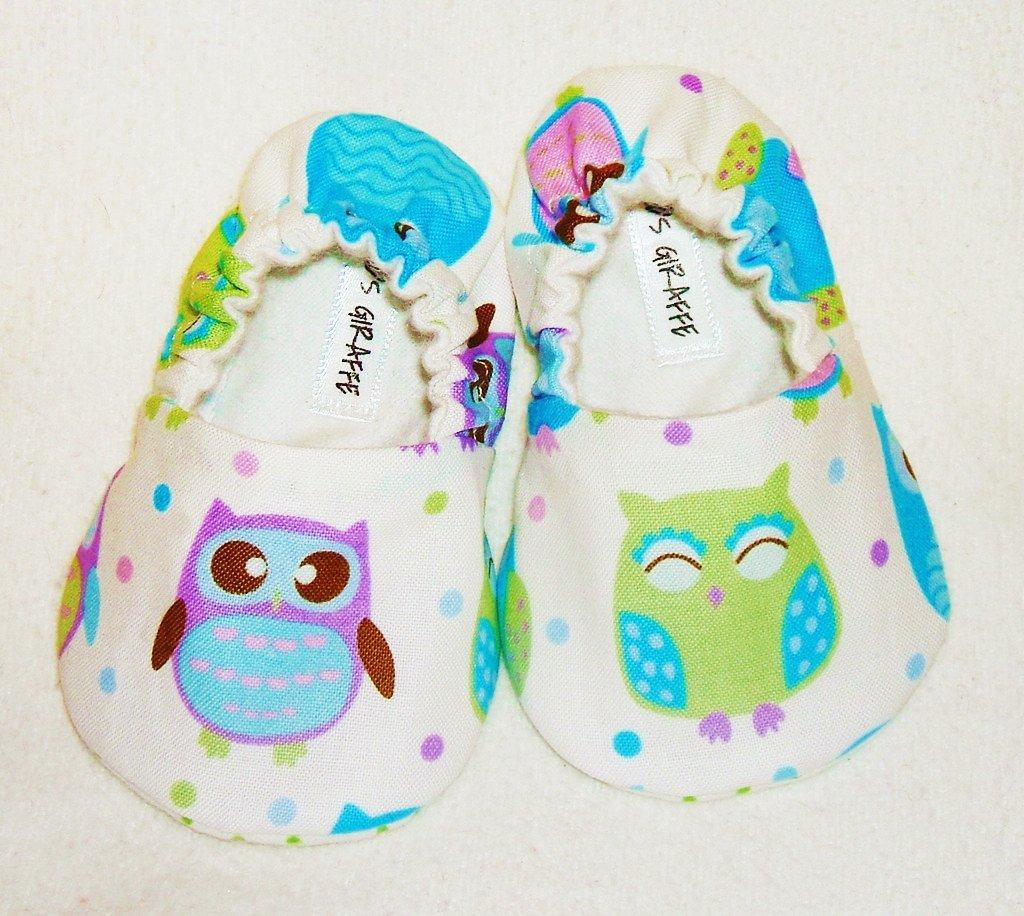 Baby Booties - Owl - (12-18 mo)