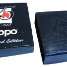 ZIPPO 75 YEARS BOX FOR LIGHTER UNUSED RARE