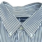RALPH LAUREN CLASSIC FIT STRIPE LONG SLEEVE MENS SHIRT SIZE XL PRE-OWNED AUTHENTIC