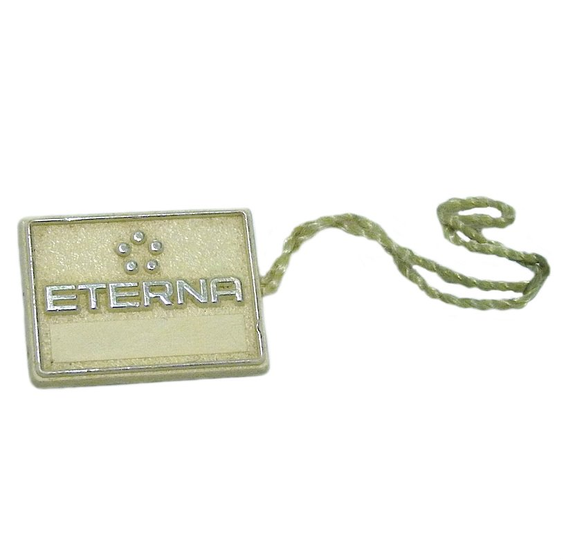 ETERNA WATCH PLASTIC HANG TAG PRE-OWNED