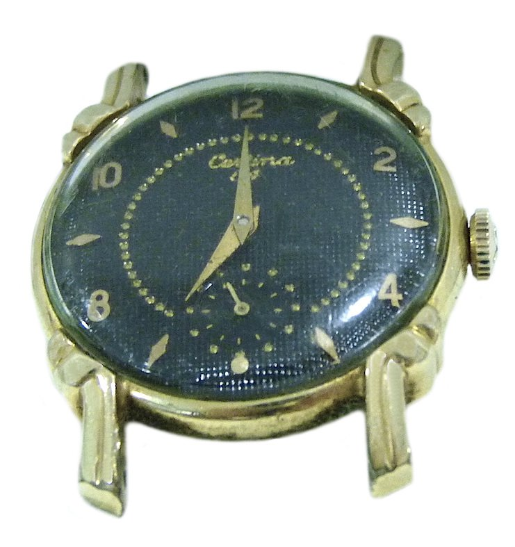 Vintage Certina By Illinois Watch 10K Gold Filled Mechanical Fancy Lugs Mens Watch Swiss