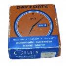Vintage Elgin Travel Alarm Clock Box