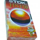 TDK VHS HIGH QUALITY E-120 HSEN BLANK TAPE FACTORY SEALED