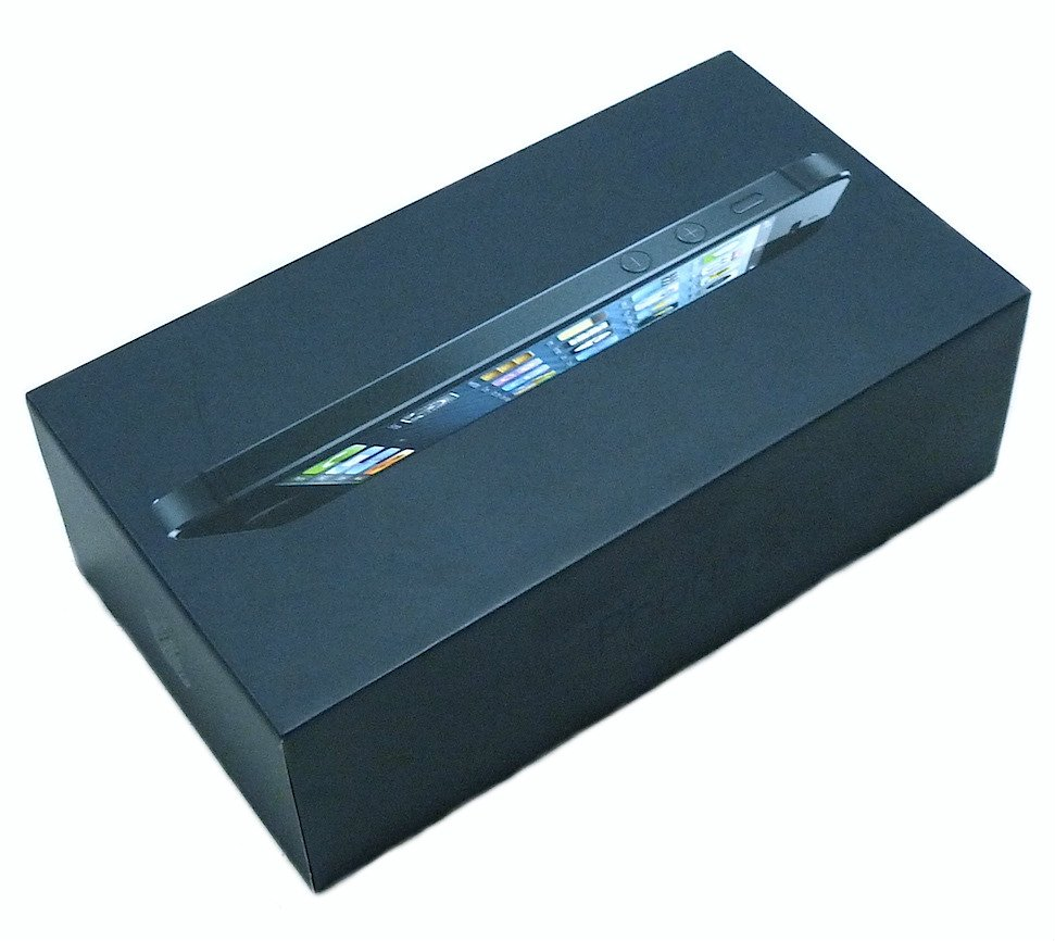 APPLE iPHONE 5 BLACK BOX ONLY