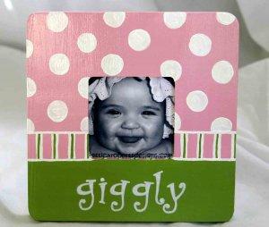"""giggly"" frame"