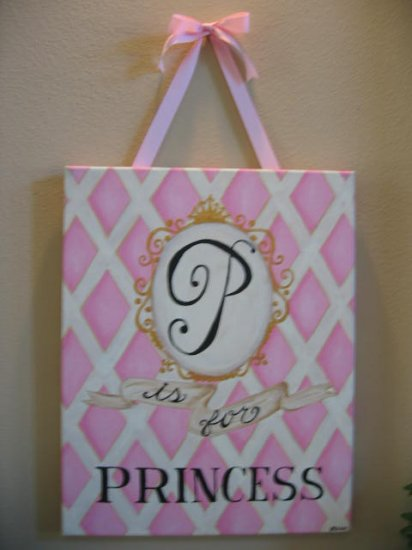"""Princess"" canvas"