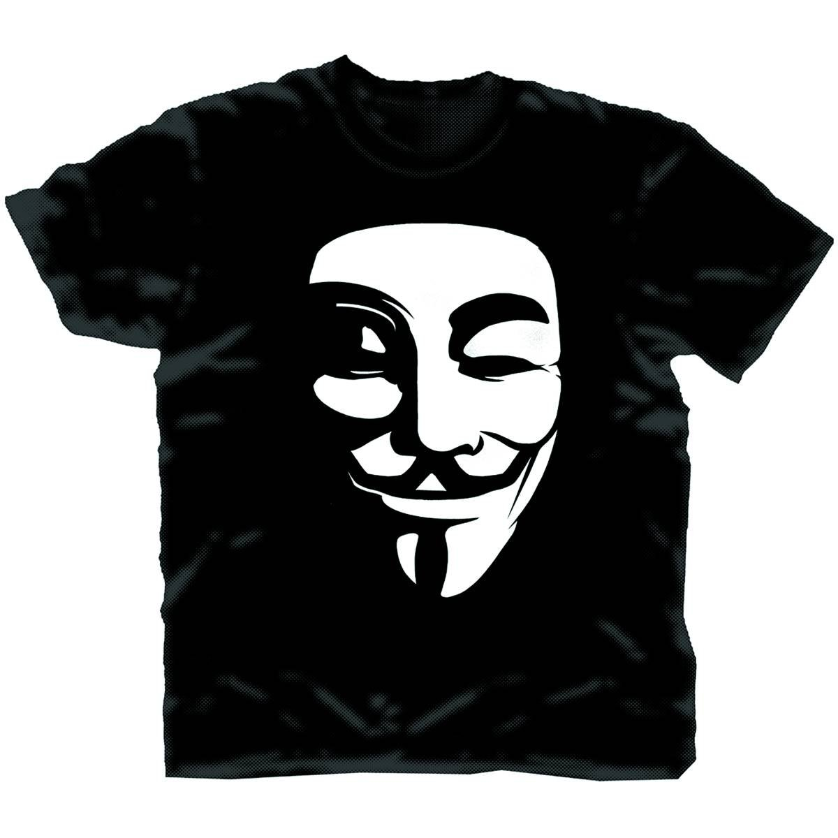 V FOR VENDETTA VENDETTA WHITE MASK BLK T/S XL (C: 1-1-0)