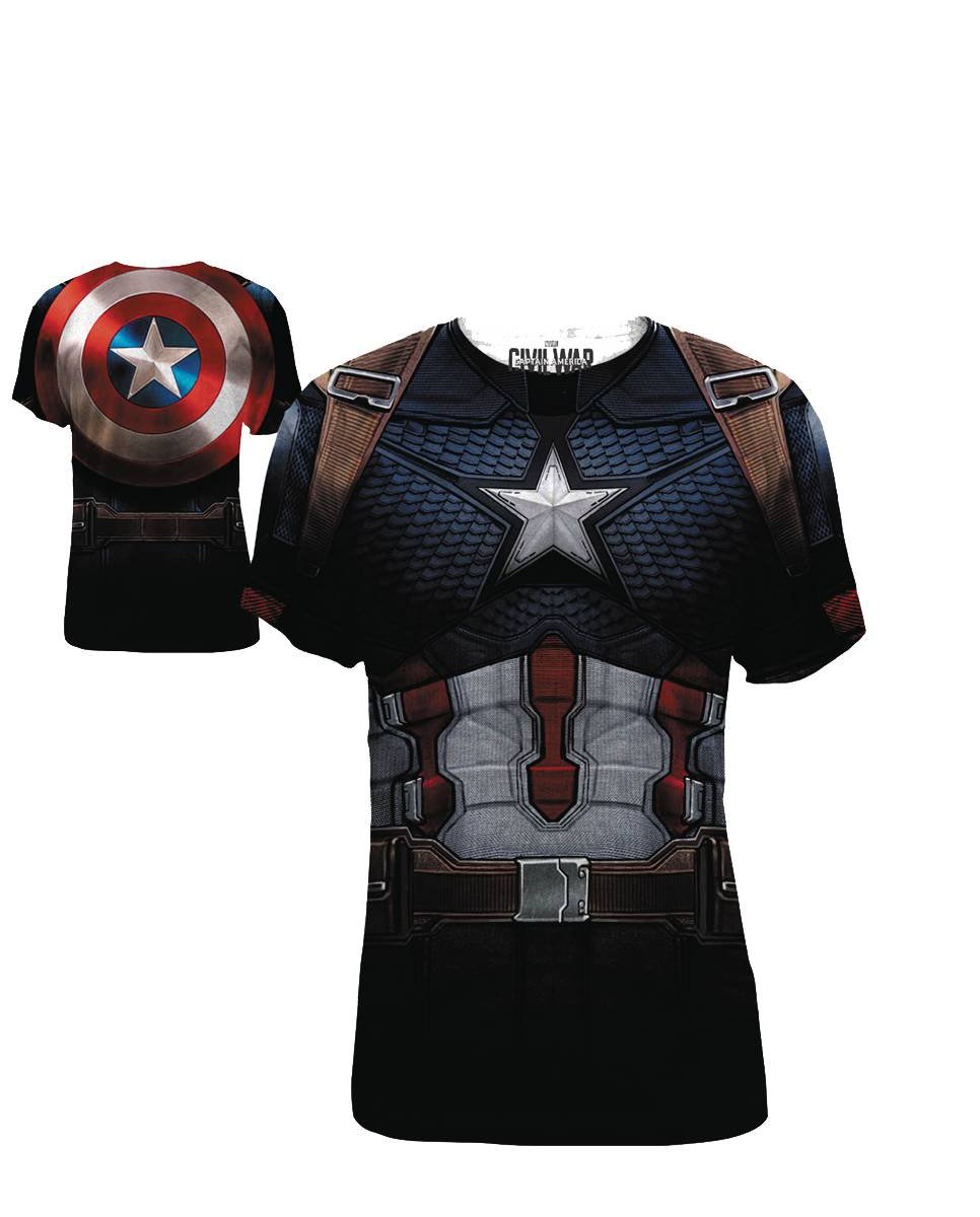 CAPTAIN AMERICA 3 CAP DA FRAP SUBLIMATED T/S SM (C: 1-1-1)