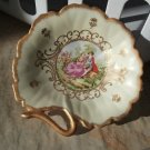 """Vintage Lefton China 6"""" Candy/Nut Dish, Hand Painted"""