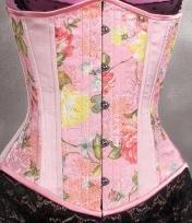 Sale! Satin Floral Pink Corset
