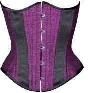 Purple Metallic Silk Corset