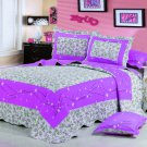 100% Cotton High Quality King Quilt BedSpread Set