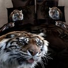 100% Cotton  3D Majestic King of All Animal Print 4 Pieces Bedding Sets hot selling