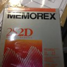 "Memorex 10 Floppy Disks 3.5"" Double Density 2S2D 3 1/2"" PC Format Diskettes DSDD"