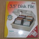 "3.5"" Disk Storage Box Case Holder - 3 1/2"" Disc Diskette PC Tray File Hold 100"