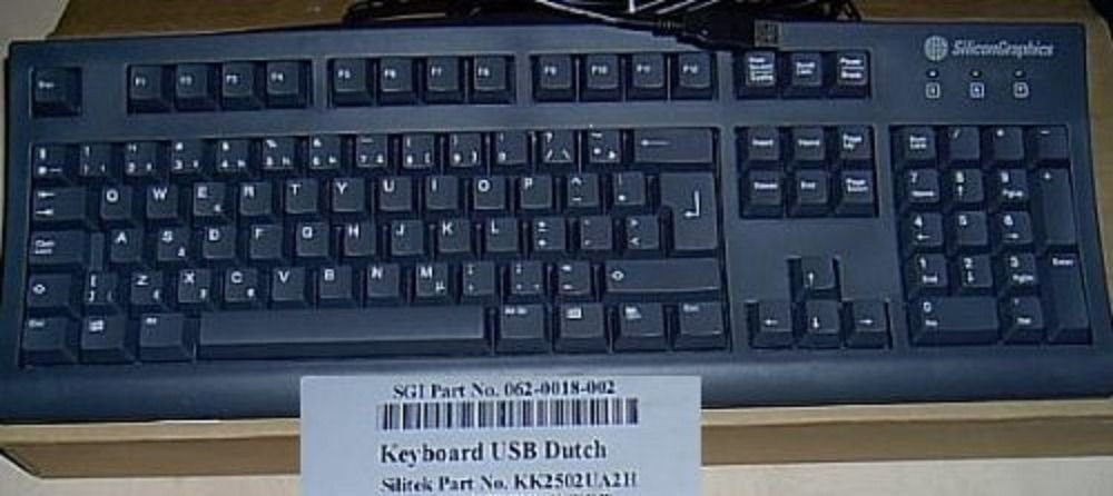 DUTCH ENGLISH USB KEYBOARD GREAT FOR PCS OR MACS FOREIGN KEYBOARD - Netherlands