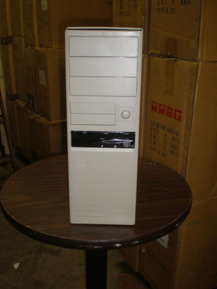 NEW AT Computer Case Tower Desktop PC Win Dos Build Server Windows Mid Full 747B