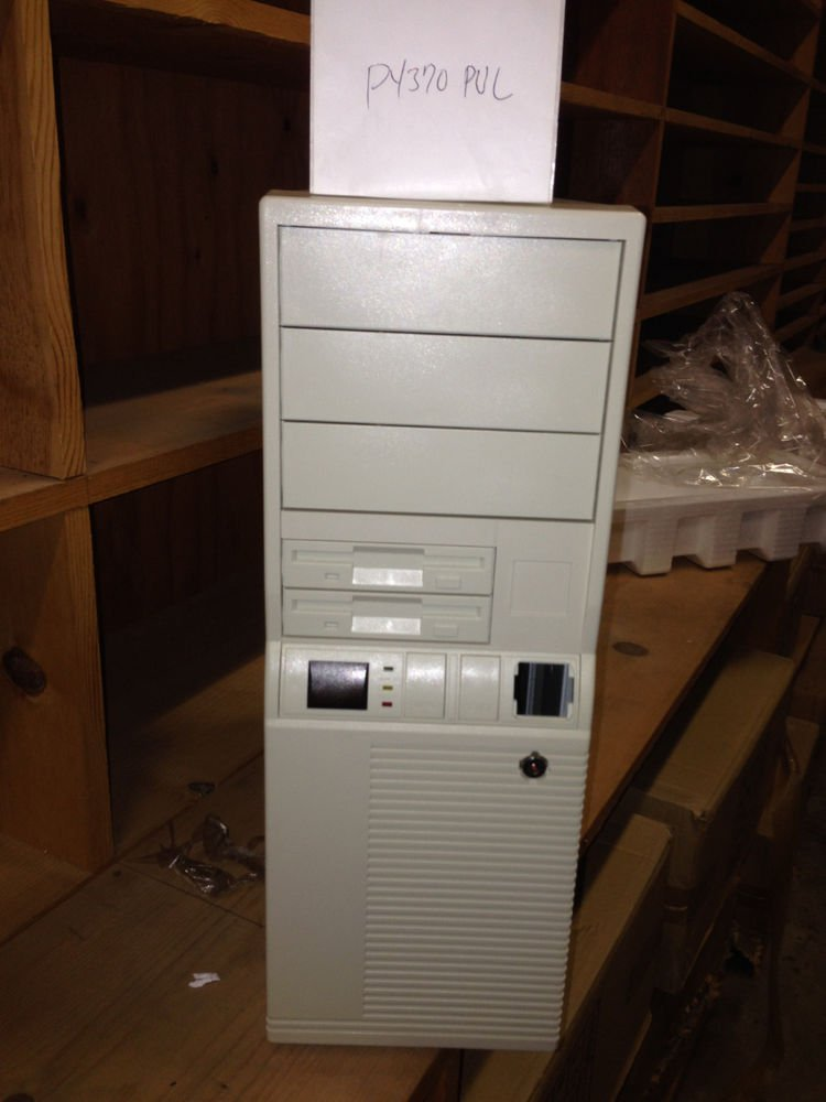 AT Computer Case + POWER SUPPLY Tower Desktop PC Win Dos Build Server - P4370PUL