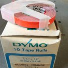 "10 Pack Dymo 1/4"" x 12' GLOSS ORANGE Embossing Tape Label Magazine Maker Printer"