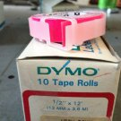 "10 Pack Dymo 1/2"" x 12' NEON PINK Embossing Tape Label Magazine Maker Printer"
