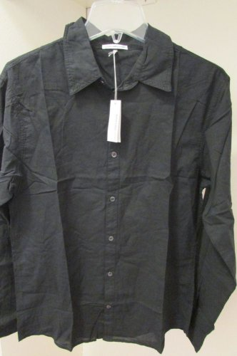 James Perse Button Down Shirt NWT Size 1 Black Awesome