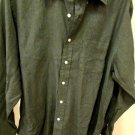 BROOKS BROTHERS DRESS SHIRT GREEN NON IRON MEDIUM WOVEN IN ITALY